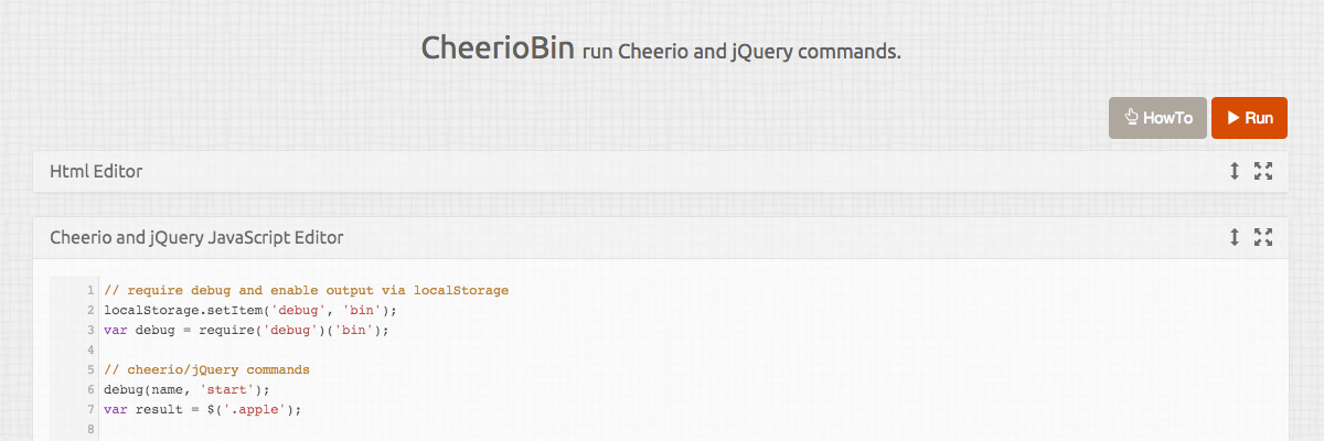 CheerioBin Screenshot